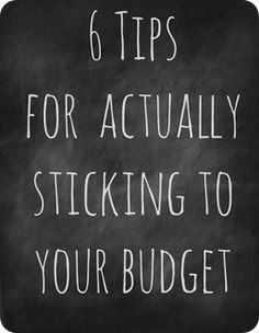 Making a budget is easy (sort of) - sticking to it is the hard part