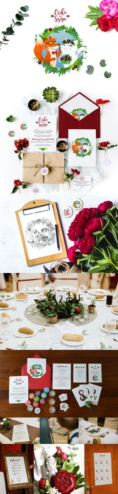 Cat and Fox wedding stationery-Our own wedding project on Behance