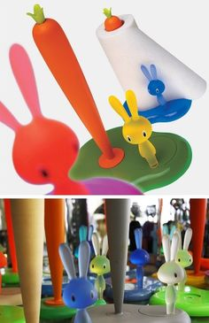 Bunny & Carrot Kitchen Roll Holder Stefano Giovannoni Alessi Delectable Alessi Kitchen Decorating Design