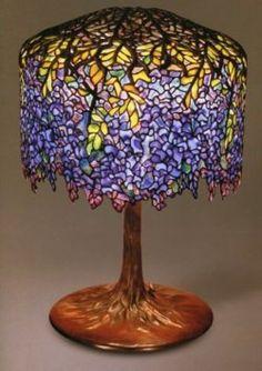 Tiffany lamp by Clara Driscoll - the wisteria lamp