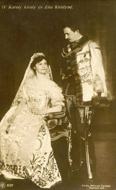 Charles IV of Hungary and Zita, Queen of Hungary in Hungarian clothing Austria, Die Habsburger, Impératrice Sissi, Kaiser Karl, Franz Josef I, Archduke, Hungary Travel, Hungarian Embroidery, Austro Hungarian