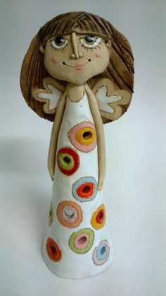 Ceramics Projects, Art Projects, Projects To Try, Clay Angel, Fat Art, Paperclay, Crafty Kids, Handmade Pottery, Clay Crafts