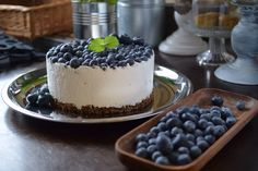 Creek yoghurt cheececake and blueberries, from cutiepie.fi