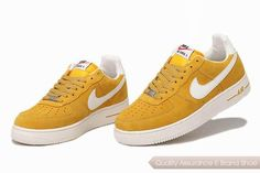 nike air force 1 unisex yellow white shoes p 3695