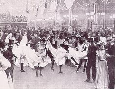 RARE PHOTO Ball at the Moulin Rouge PARIS