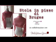 Bruges, Crochet Shawl, Shawls And Wraps, Crochet Patterns, Weaving, Embroidery, Poncho, Youtube, Cheesecake