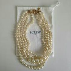 Auth J. Crew Twisted Hammock Necklace/TONIGHT ONLY These usually are sold out everywhere the color is the #2pic my lighting is off. The retail is 98.00 plus tax I purchased these myself in the store. No trades only selling This is called the hammock twisted pearl necklace on jcrew.com J. Crew Jewelry Necklaces