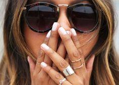 White Nail Polish Trend #nail http://pinterest.com/ahaishopping/