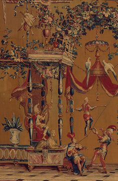 Jean-Baptiste Monnoyer, Philippe Behagle of Beauvais manufactory: Camel: From the Berain Grotesques (1977.437.1) | Heilbrunn Timeline of Art History | The Metropolitan Museum of Art