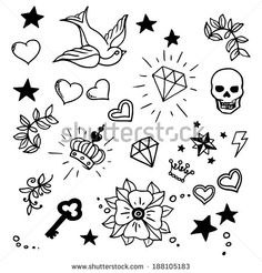 old school cherry tattoo skulls - Google Search