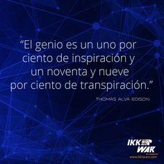 Thomas Alva Edison #ikkiware #frases #teconologia #invencion #motivacion