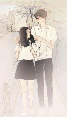 韓國살구 salgoolulu動態圖 Animated Gif Illustrator by 살구 salgoolulu Art And Illustration, Korean Illustration, Cute Couple Art, Anime Love Couple, Cute Anime Couples, Manga Anime, Anime Art, Cover Wattpad, Animated Love Images