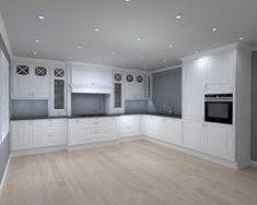 herskapelig kjøkken – Google Søk Kitchen Cabinets, Home Decor, Decoration Home, Room Decor, Cabinets, Home Interior Design, Dressers, Home Decoration, Kitchen Cupboards