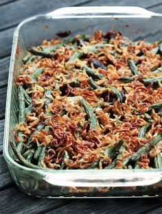 Green Bean Casserole with Crispy Shallots is everything