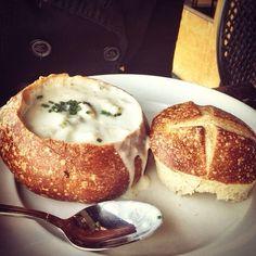 Clam Chowder Bread Bowl @ Boudins Sourdough Bakery