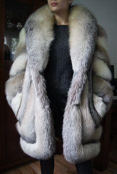 SALE SALE Pelzmantel Pelzjacke Platinfuchs Fuchsmantel Fuchsjacke fur coat  шуба in Vêtements, accessoires, Femmes 72a83ef3778c