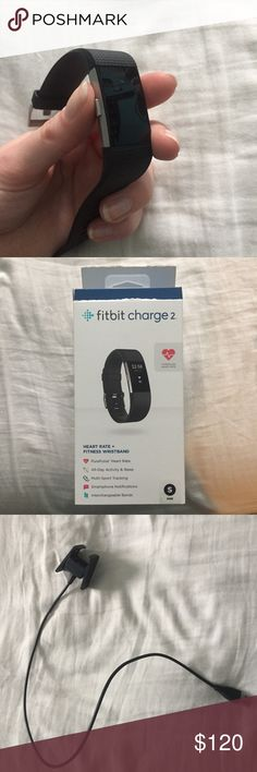 NEW Fitbit charge 2 Comes with watch and charger!  -NEW✨ -ask me questions😊 -next day shipping 📬 fitbit Accessories Watches