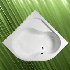 Bild: Badewanne 152x152 cm incl. Füße Wanne 150 Acrylwanne Eckwanne - extra tief 54 cm