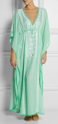 Marigay embroidered voile kaftan I would love something like this for lounging after the baby is born