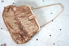 Vintage 1940s Whiting and Davis Purse // 30s by TrueValueVintage