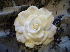 Gardenia Hair Clip by modagefloral on Etsy,