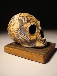 Rugged Line Work Tectonic Skull