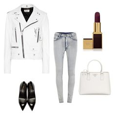 """Без названия #1937"" by newyorkstylrer ❤ liked on Polyvore featuring Yves Saint Laurent, Cheap Monday, Tom Ford and Prada"