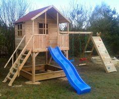 Drewniany plac zabaw dla dzieci do ogrodu!