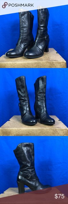 Born Nuri Black Leather Boots Sz 8.5M Brand: Born Color: Black Material: Leather Size 8.5M Used Good Condition Handmade Made in China Born Shoes Ankle Boots & Booties