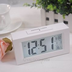 New 1pcs White Digital LED LCD Snooze Station Calendar Desk Alarm Clock 80324 Free Shipping-in Alarm Clocks from Home & Garden on Aliexpress.com | Alibaba Group