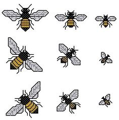 Bumble Bee Cross Stitch (Printable PDF Pattern