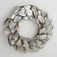 Silver Magnolia Wreath   Crate