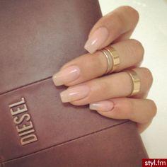 NagelDesign Elegant NagelDesign Elegant Kha elegant manicure na Sns Nails, Nude Nails, Coffin Nails, Gel Nail, Gorgeous Nails, Pretty Nails, Natural Acrylic Nails, Natural Manicure, Gel Nagel Design
