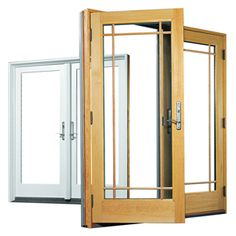 Andersen A Series Hinged Patio Door (Dark Bronze Exterior, White Wood  Interior,