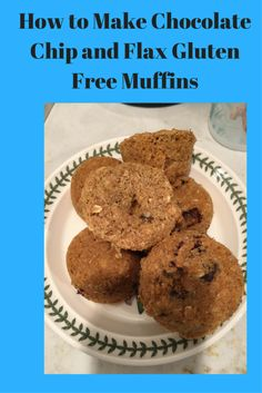 Learn how to make chocolate chip flax gluten free muffins. Try this recipe for delicious gluten free muffins. These gluten free muffins are simple. Gluten Free Muffins, Gluten Free Oats, Healthy Muffins, Allergy Free Recipes For Kids, Chocolate Chip Muffins, Foods With Gluten, How To Make Chocolate, Autoimmune, Food To Make