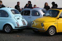 """Fiat 500s, Gianicolo, Rome, 2013.  """"We have a quorum."""""""