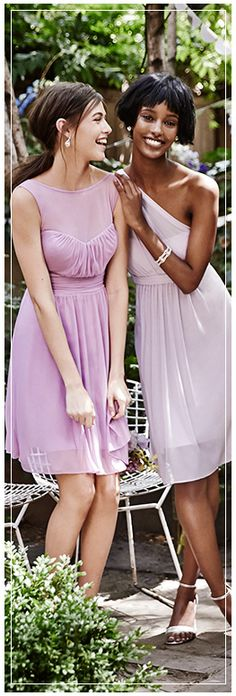 Light Purple Bridesmaid Dresses, Different Styles, Different Shades