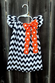 Halloween Orange Black Chevron Print Polka by MooseBabyCreations, $27.50