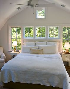 feng shui rules.  don't sleep facing the door way; don't sleep with your head backing the window, have a nightstand on both sides, leave the majority of walking space at the foot of the bed