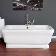 Strom Plumbing Solitude 70 Inch Acrylic Double Ended Pedestal Tub with Drain