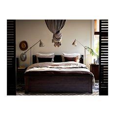 BRUSALI Estructura cama IKEA Al tener los laterales de la cama regulables, se pueden utilizar colchones de diversos grosores.