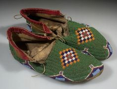 Sioux moccasins.  AMNH