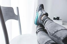 Girl with Nike Sneakers