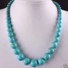 Beautiful-6-14mm-Turkey-Turquoise-Beads-Necklace-18