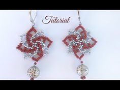 How to make seed bead earings - twist stitch tutorial