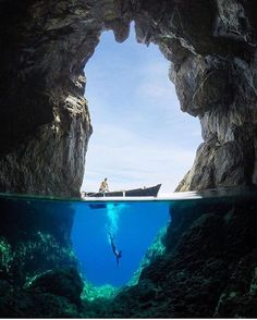 Cave diving / Karpathos Island Greece / Travis Burke Photography Say Yes To Adventure - Travel Image Underwater Photos, Underwater Photography, Travel Photography, Greece Photography, Gopro Photography, Fashion Photography, Photography Ideas, Nature Photography, Places To Travel