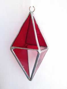 3D Stained Glass Ornament Red by MamaAgees on Etsy, $7.50