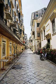Streets of Corfu Town I, Greece (by Daniel Skoog) Places Ive Been, Places To Go, Corfu Town, Corfu Island, Corfu Greece, Greek Isles, Greece Islands, Exotic Places, Italy Travel