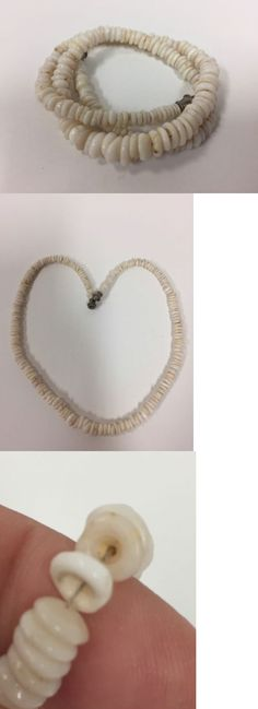 Other Vintage Jewelry 166734: Vintage Puka Shell Necklace Hawaii Beads 1970S 15 Inch (Jb140) BUY IT NOW ONLY: $39.95