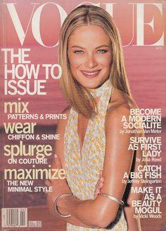 US VOGUE - APRIL 2000 COVER MODEL - CAROLYN MURPHY